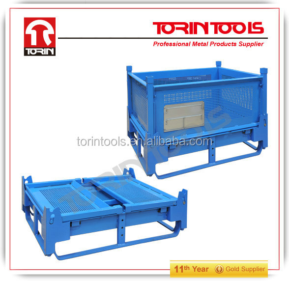 Warehouse steel Industrial Stackable Storage Containers With Wheels