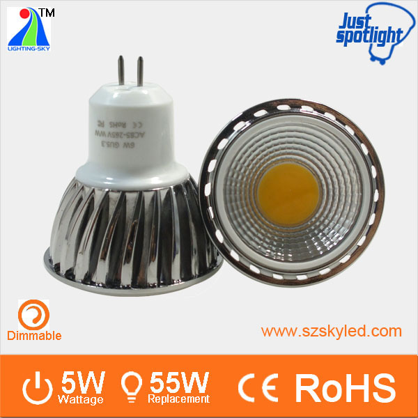 5w mr16 220v gu5.3 RA80 500lm ce rohs gu10 led spotlight