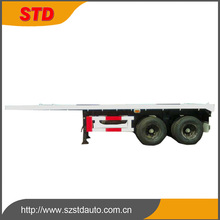 TS16949 certificate twin axle 20ft flatbed trailer with locks