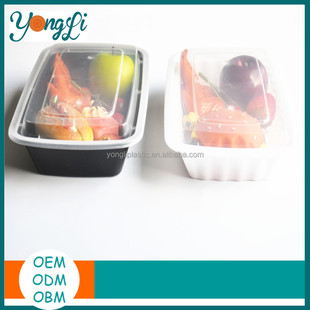 Food Grade Meal Prep Disposable Plastic Food Container with Lid