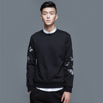 MS70970G Casual style men o neck pullover hoodies