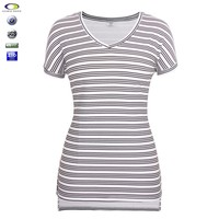 Cheap blank custom black and white wholesale striped bamboo t-shirt