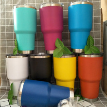 Wholesale 30oz Insulated Double Wall Stainless Steel Tumbler With Straw And Lid