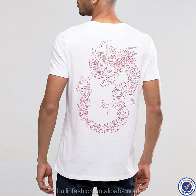 t shirts in bulk mens style short sleeve plain white t shirt with dragon print back