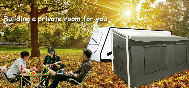 rv sun retractable camping campers caravan car awning tent