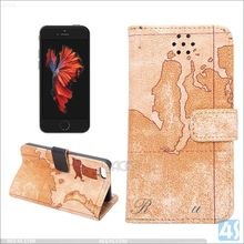 For iPhone SE New design map pattern PU leather case, for iPhone SE wallet flip phone case cover