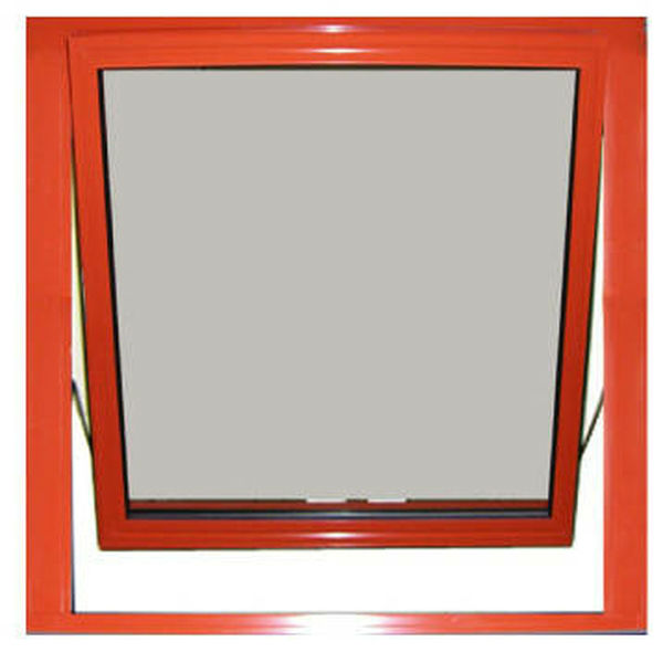 Aluminum-clad wood lower hanging window