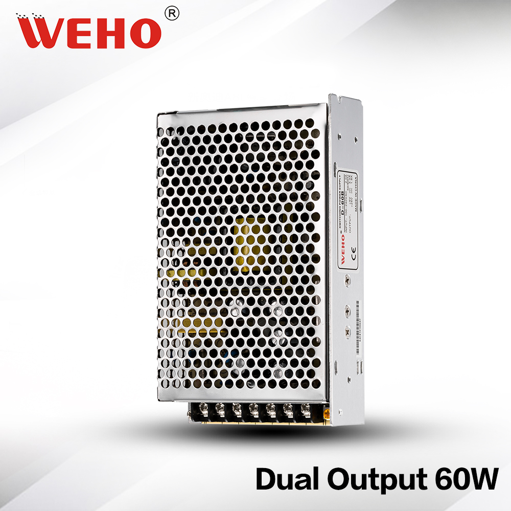 D-60A dual output voltage 5v 12v ac to dc 60w switching power supply