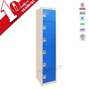 knock down 6 door metal locker / 6-tier vertical storage cabinet design