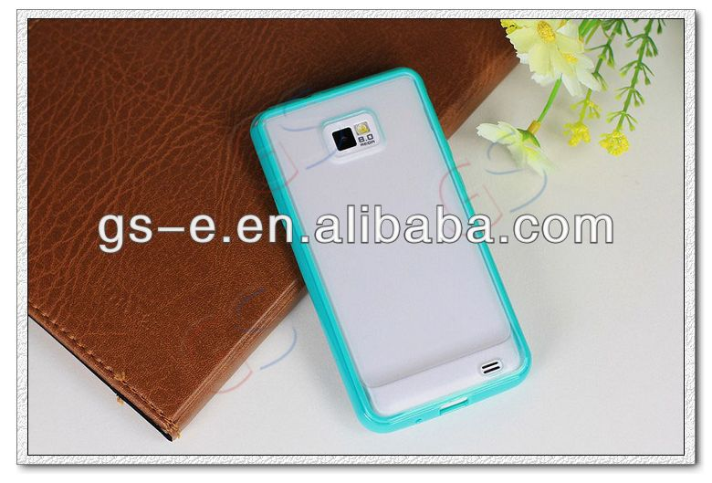 2013 trendy soft TPU cellphone case for Samsung Galaxy 2 I9100 transparent &matte TPU case for samsung S2 I9100