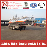 Aluminum Alloy Flammable Liquid Chemical Fuel Tanker Semi Trailer 20.3 m3 China Manufacturer Chemical Transportation Trailer
