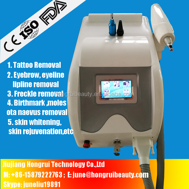 Laser play&plug handle 400W q switch nd yag laser freckle removal