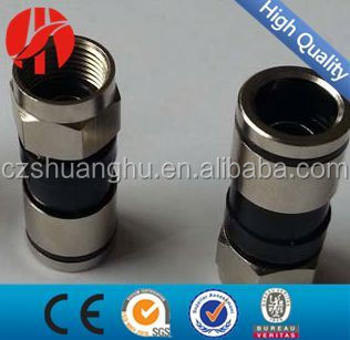 high quality compression F male RG6 connector