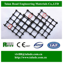 Plastic polypropylene road reinforcement PP Biaxial geogrid for soil stabilization