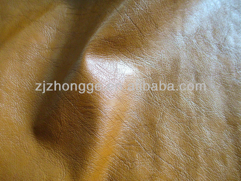 PU leather yellow sofa leather/furniture leather/upholstery leather camical fabric similar to real leather