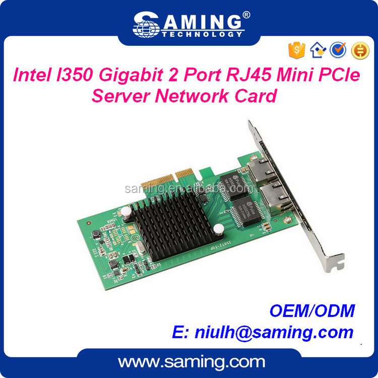 PCIe 1000Mbps dual port server lan card/adapter with intel350 chip