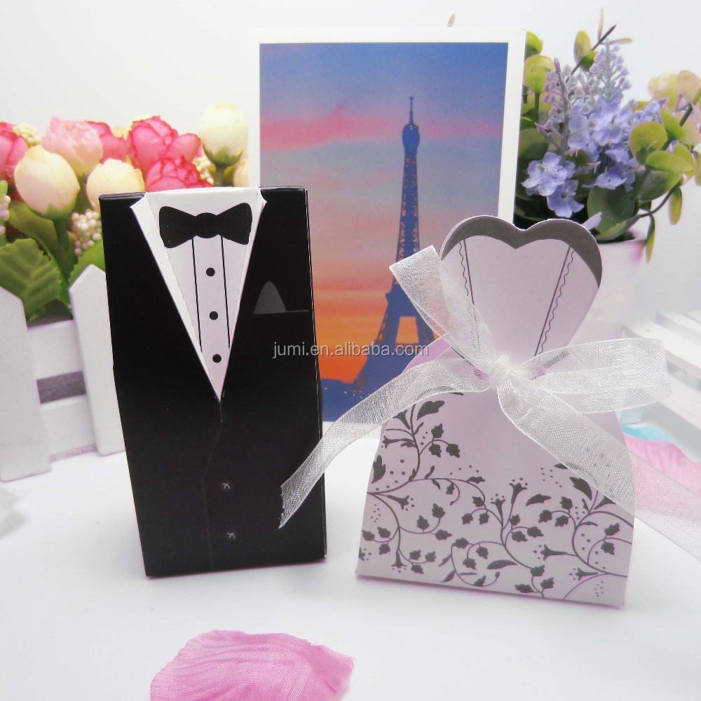 Bride And Groom Ribbon Wedding Gift Box - Buy Bride And Groom Wedding ...