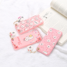 New fashionable matte 3D cartoon embossed soft TPU phone case with string for MOTO EX225 XT320 XT390