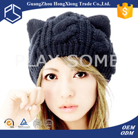 Winter lovely cat ear funny knitted hat