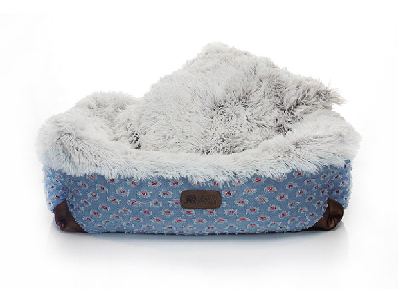 Solid popular pet bed jeans bed cushion for dog