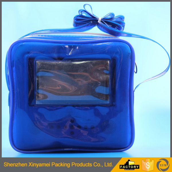 customized vinyl make up bags,plastic vinyl carry bag design ziplock for gift,vinyl no teeth zipper bag