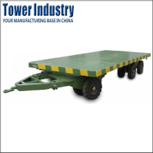 Medium Duty Flatbed Full Trailer Cargo Trailer