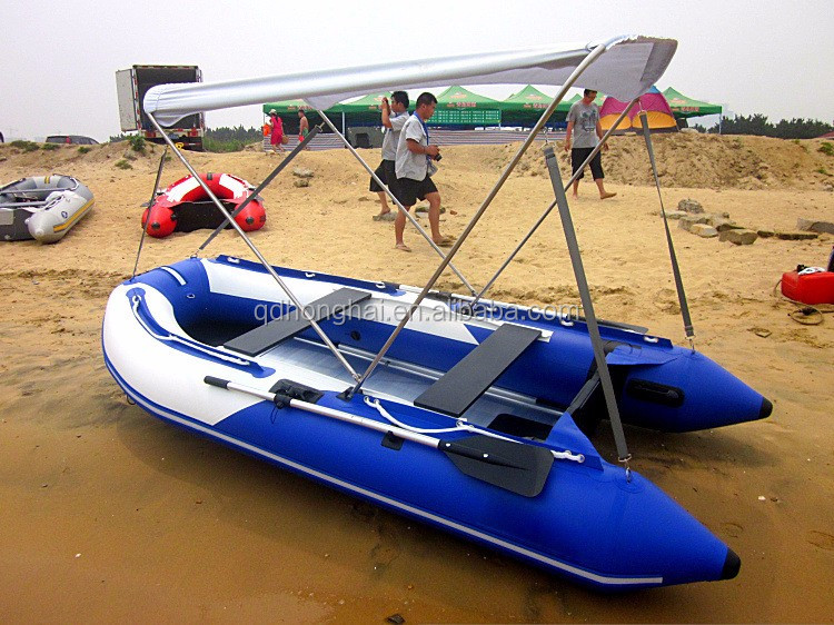high speed sport boat inflatable boat with canopy sunshadow cheaper price