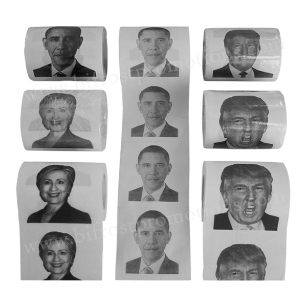Presidential Election Campaign Promotional Printed Toilet Paper