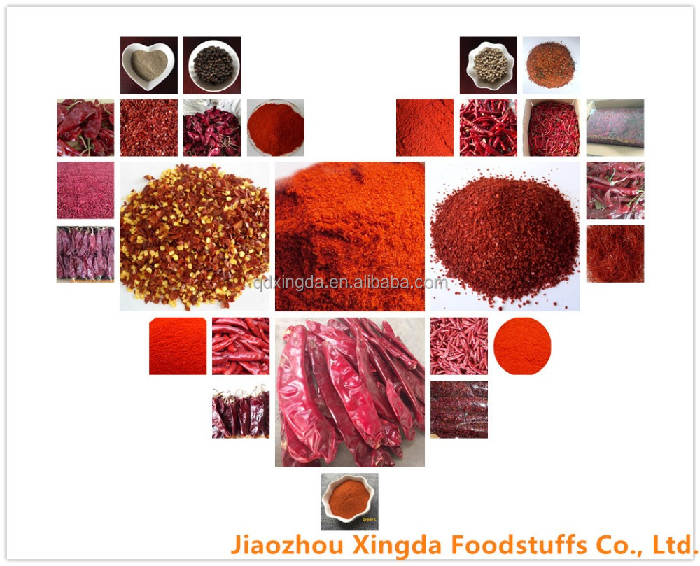 hot sale high quality export dried red hot chili pepper/sweet paprika powder/flakes/crushed brands supplier price