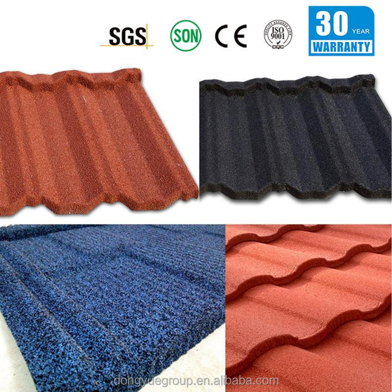tile cover roofing/stone coated corrugated roof sheets/stone coated chip steel roofing