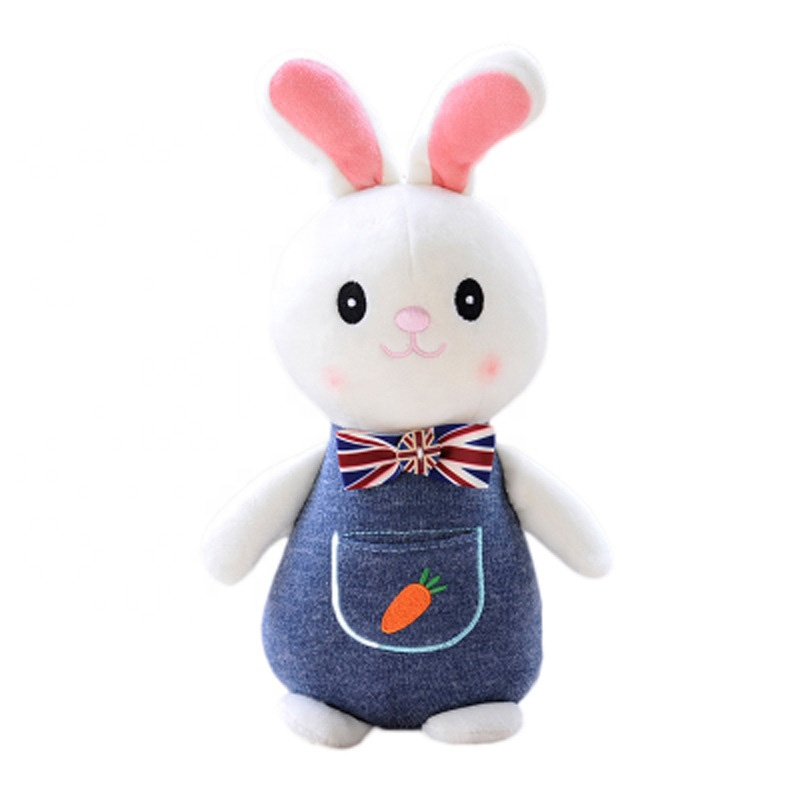 30cm High quality new arrival Organic cotton Long ear Dressed plush toys <strong>Rabbit</strong>