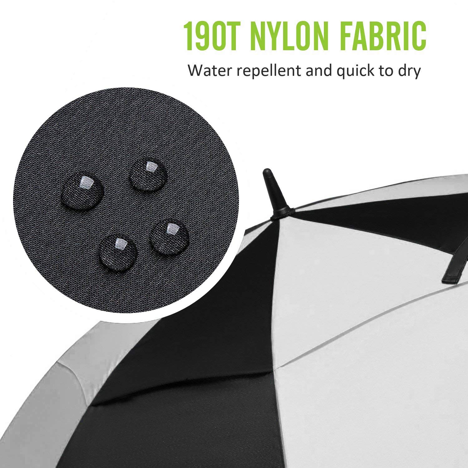 Golf Umbrella 62 Inch Large Oversize Double Canopy Vented Windproof Waterproof Automatic Open Golf Umbrellas