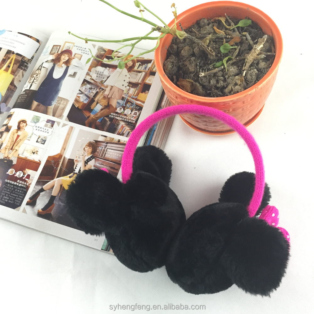Wholesale cute design ear muff with bowknot