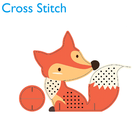 Promotional gifts embroidery home decoration kits Diy Fox craft handicraft cross stitch kits