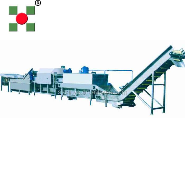 Lettuce freezing processing machine/asparagus vegetable processing machine