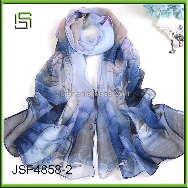 Wholesale long women national scarf Lotus Pond moonlight scarf