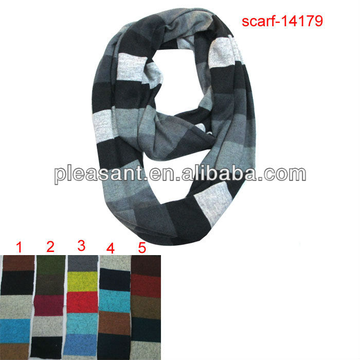 fashion hot sale stripe tube scarf