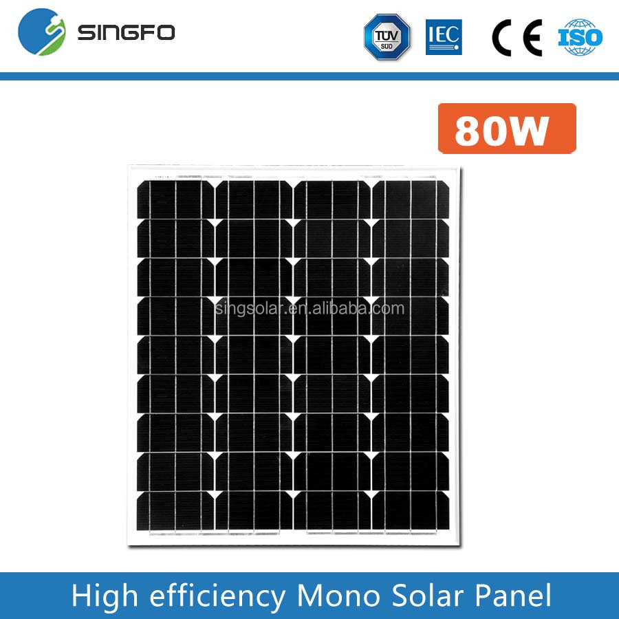75Wp 18V Mono Solar Panel Solar Modules Factory Direct Sale Fast Delivery