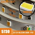 SMD 5730 led strip lighting for decoration hotel lighting 5m/roll DC12 V