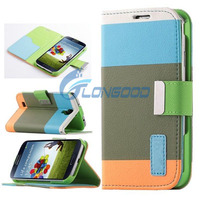 Multi-color PU Leather Wallet Flip Case for Samsung Galaxy S4 active