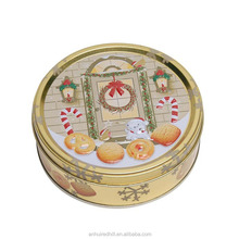 christmas Biscuits And Cookie Round Tin Box