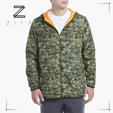 Winter Jackets Mens Camo Printed Zipper Tracksuit Plain Running Custom Hoodies