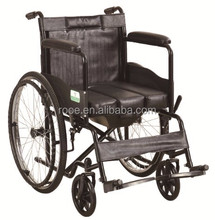 Manual commode wheelchair with pulling commode cushion ( BWHM - 1B502 )