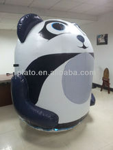 2015 LED light Inflatable Panda Cartoon, advertising inflatable panda with LED light