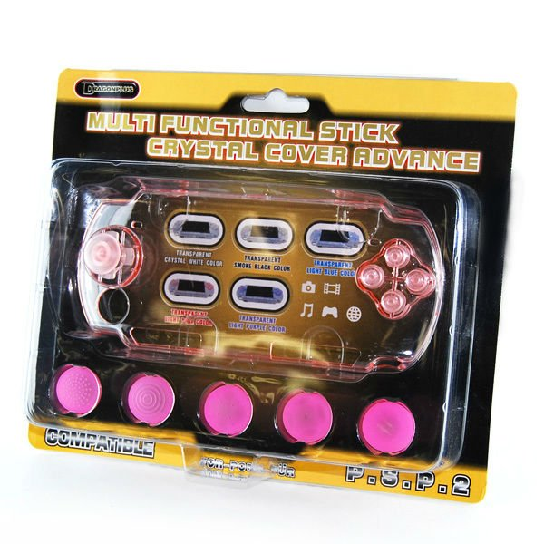For PSP-2000 Repair Parts Multifunctional Stick Crystal Cover Advance Pink