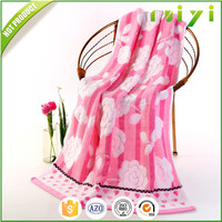 100%cotton jacquard design luxury bath towels for promotional gift