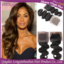 Free Parting Cheap Brazilian Virgin Human Hair Piece Silk Base Lace Closure