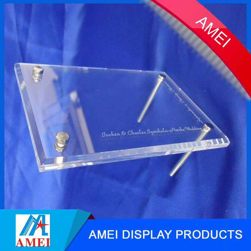 New product 2016 acrylic picture frame candle holders for sale