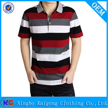 Men polyester cotton yarn dye white and other color blank polo shirt