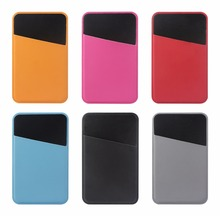3M Adhesive PU Leather Card Pouch Sticker Credit Card Holder Sleeve Cover Universal Phone
